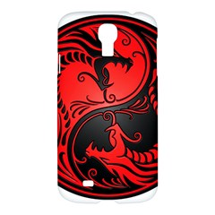 Yin Yang Dragons Red And Black Samsung Galaxy S4 I9500/i9505 Hardshell Case by JeffBartels
