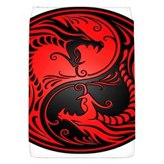 Yin Yang Dragons Red And Black Removable Flap Cover (small) by JeffBartels