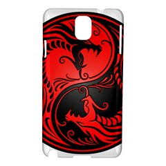 Yin Yang Dragons Red And Black Samsung Galaxy Note 3 N9005 Hardshell Case by JeffBartels
