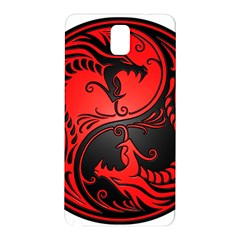Yin Yang Dragons Red And Black Samsung Galaxy Note 3 N9005 Hardshell Back Case by JeffBartels