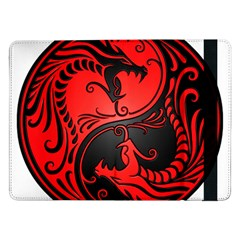 Yin Yang Dragons Red And Black Samsung Galaxy Tab Pro 12 2  Flip Case