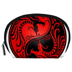 Yin Yang Dragons Red And Black Accessory Pouch (large) by JeffBartels