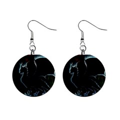 Dragon Aura Mini Button Earrings by StuffOrSomething