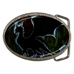 Dragon Aura Belt Buckle (oval) by StuffOrSomething