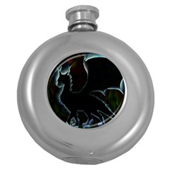 Dragon Aura Hip Flask (round) by StuffOrSomething