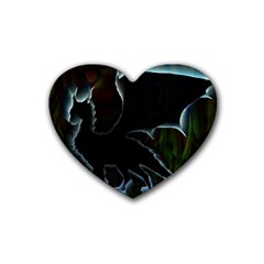 Dragon Aura Drink Coasters 4 Pack (heart)  by StuffOrSomething