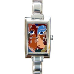 Abstract God Rectangular Italian Charm Watch by AlfredFoxArt