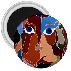 Abstract God 3  Button Magnet