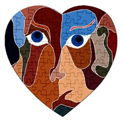 Abstract God Jigsaw Puzzle (heart) by AlfredFoxArt