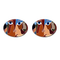 Abstract God Cufflinks (oval) by AlfredFoxArt