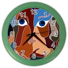 Abstract God Wall Clock (color) by AlfredFoxArt