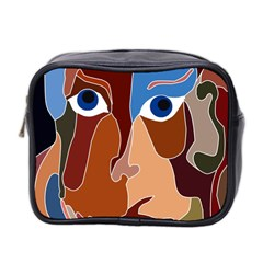 Abstract God Mini Travel Toiletry Bag (two Sides) by AlfredFoxArt