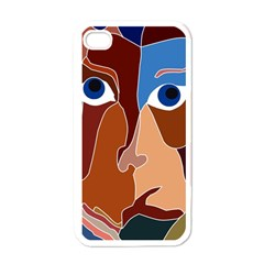 Abstract God Apple Iphone 4 Case (white) by AlfredFoxArt