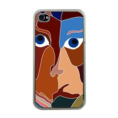 Abstract God Apple Iphone 4 Case (clear) by AlfredFoxArt
