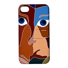 Abstract God Apple Iphone 4/4s Hardshell Case With Stand by AlfredFoxArt
