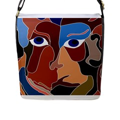 Abstract God Flap Closure Messenger Bag (large) by AlfredFoxArt