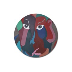 Abstract God Pastel Magnet 3  (round) by AlfredFoxArt