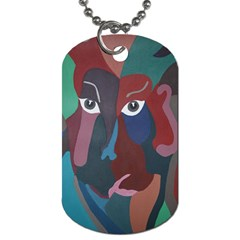 Abstract God Pastel Dog Tag (two Sided)  by AlfredFoxArt