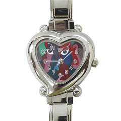 Abstract God Pastel Heart Italian Charm Watch  by AlfredFoxArt