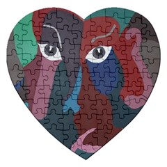Abstract God Pastel Jigsaw Puzzle (heart) by AlfredFoxArt