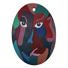Abstract God Pastel Oval Ornament (two Sides) by AlfredFoxArt