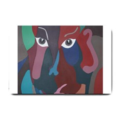 Abstract God Pastel Small Door Mat by AlfredFoxArt