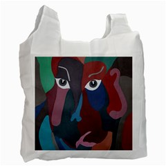 Abstract God Pastel White Reusable Bag (two Sides) by AlfredFoxArt