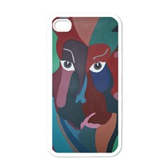 Abstract God Pastel Apple Iphone 4 Case (white) by AlfredFoxArt