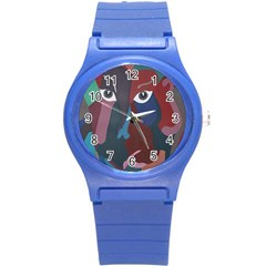 Abstract God Pastel Plastic Sport Watch (Small)