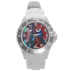 Abstract God Pastel Plastic Sport Watch (large) by AlfredFoxArt