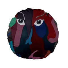 Abstract God Pastel 15  Premium Round Cushion  by AlfredFoxArt