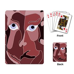 Abstract God Lilac Playing Cards Single Design by AlfredFoxArt