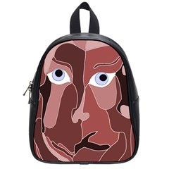 Abstract God Lilac School Bag (small) by AlfredFoxArt