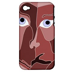 Abstract God Lilac Apple Iphone 4/4s Hardshell Case (pc+silicone) by AlfredFoxArt