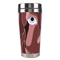 Abstract God Lilac Stainless Steel Travel Tumbler by AlfredFoxArt