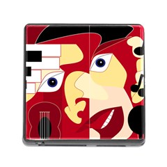 Soul Man Memory Card Reader With Storage (square) by AlfredFoxArt