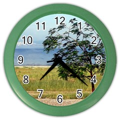 Sea Of Galilee Wall Clock (color) by AlfredFoxArt