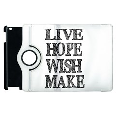 Live Hope Wish Make Apple Ipad 3/4 Flip 360 Case by AlfredFoxArt