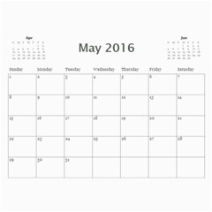 Kids By Kids   Wall Calendar 11  X 8 5  (18 Months)   A7uc01tma5bo   Www Artscow Com May 2016