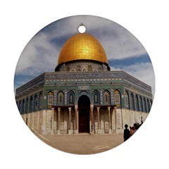 The Dome Of The Rock  Round Ornament by AlfredFoxArt