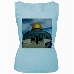 The Dome Of The Rock  Women s Tank Top (baby Blue) by AlfredFoxArt