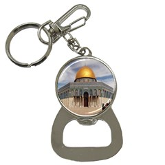 The Dome Of The Rock  Bottle Opener Key Chain by AlfredFoxArt