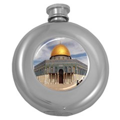 The Dome Of The Rock  Hip Flask (round)