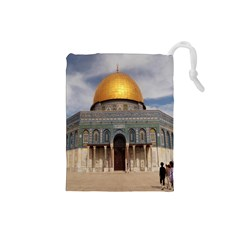 The Dome Of The Rock  Drawstring Pouch (small)