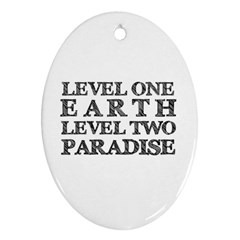 Level One Earth Oval Ornament by AlfredFoxArt