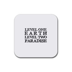 Level One Earth Drink Coaster (square) by AlfredFoxArt