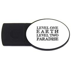 Level One Earth 2GB USB Flash Drive (Oval) by AlfredFoxArt