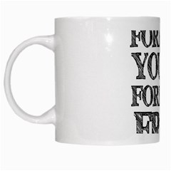 Forever Young White Coffee Mug by AlfredFoxArt