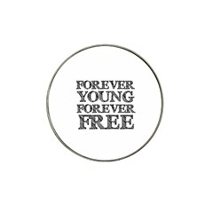 Forever Young Golf Ball Marker 4 Pack (for Hat Clip) by AlfredFoxArt