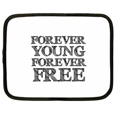 Forever Young Netbook Sleeve (xxl) by AlfredFoxArt